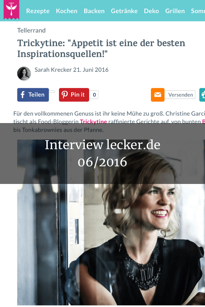 Presse Interview lecker.de trickytine