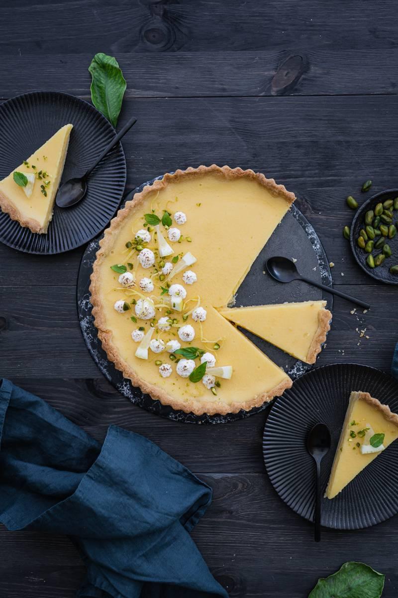 Rezept für Tarte au citron meringuee - Zitronentarte mit Baiser