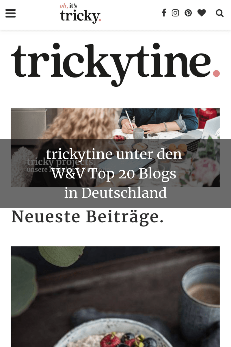 Presse WuV Top20 Blog trickytine