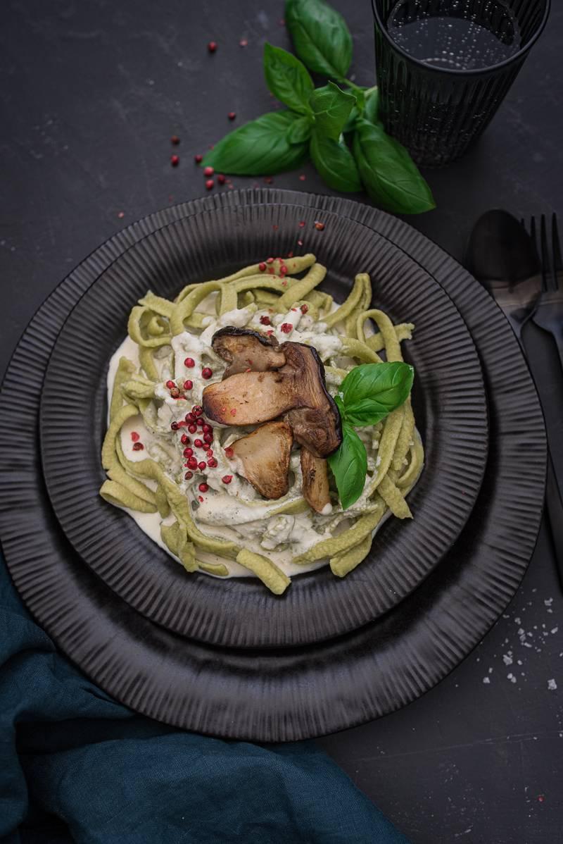 Pastamaker Basilikum Tagliatelle Steinpilze Pasta Rezept trickytine Foodblog Stuttgart