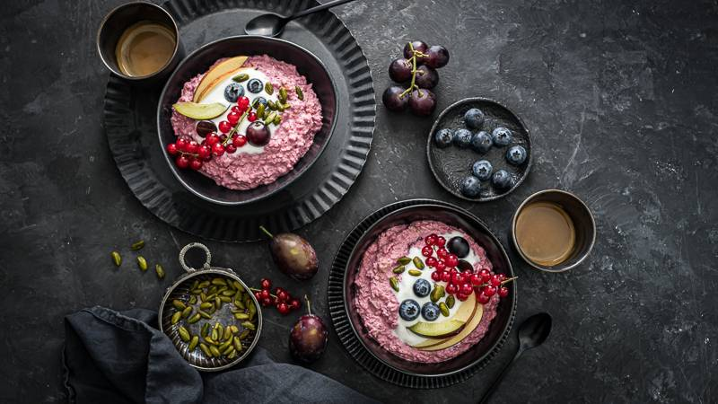 Pink Bircher Muesli Müsli trickytine Foodblog Stuttgart