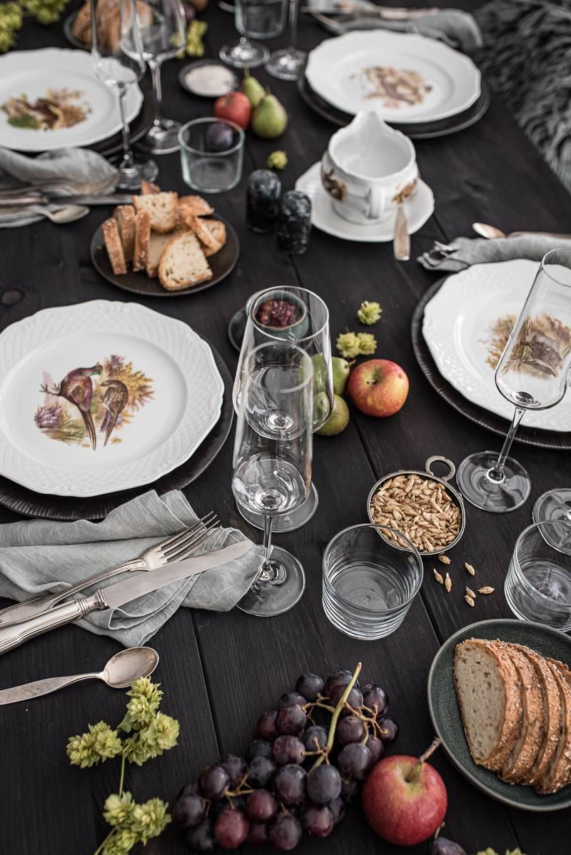 Geniesserland Forellencreme Menü trickytine Foodblog Tischdeko Herbst
