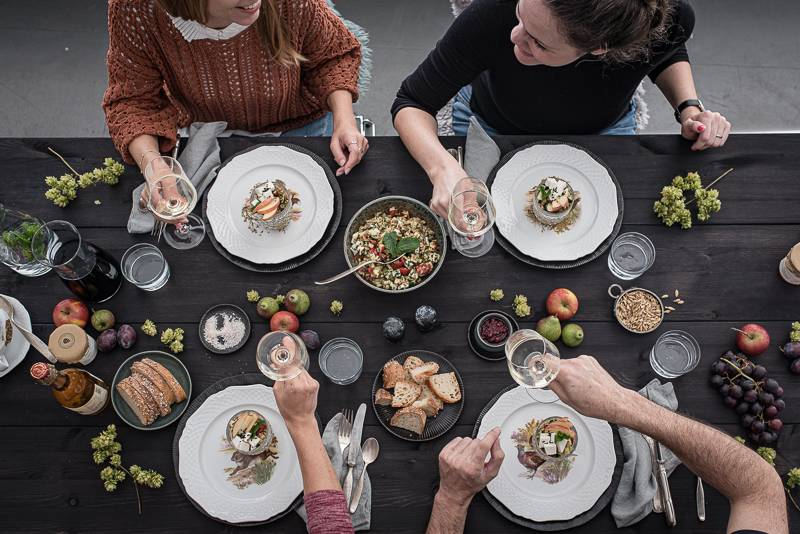 Grünkern Tabouleh trickytine Foodblog Menü