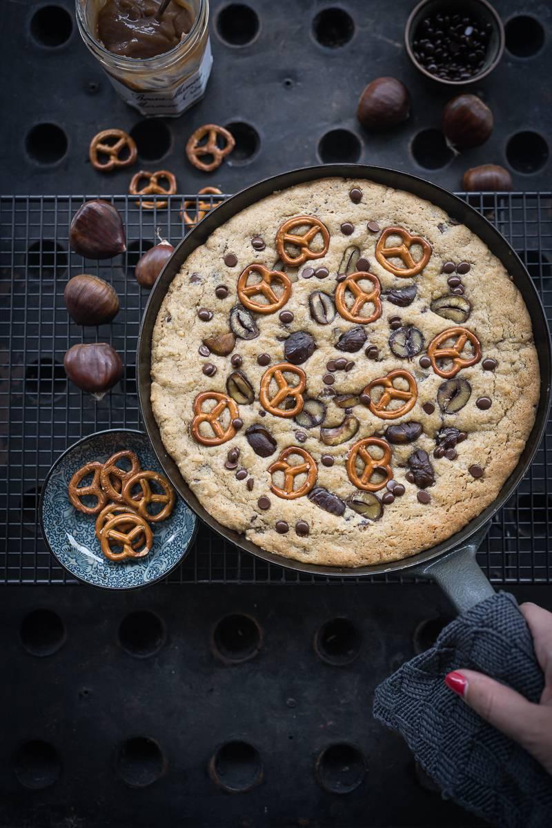Riesen Pfannen Cookie mit Maronen und Schokolade – Giant Cookie Love!
