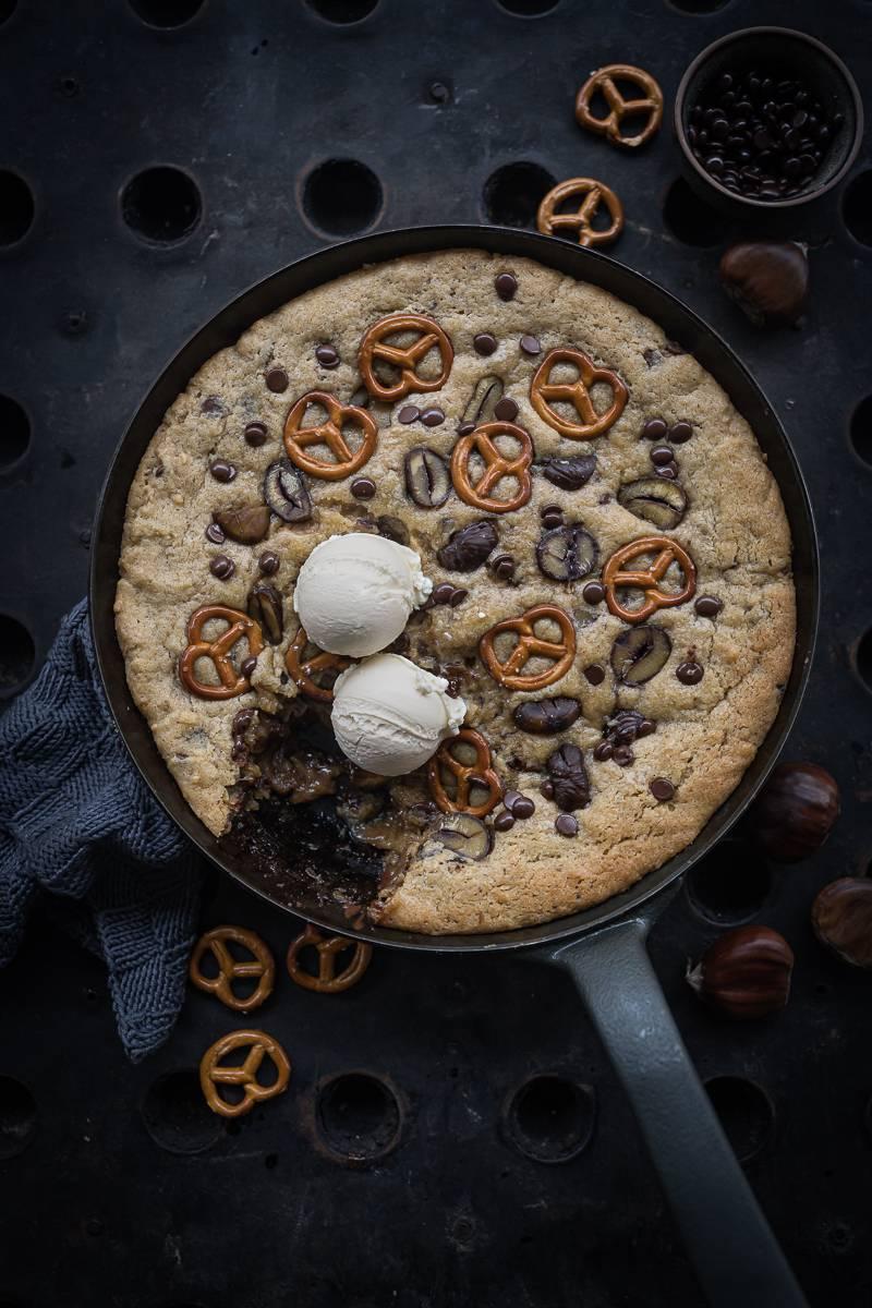 Riesen Cookie Pfanne Maronen trickytine