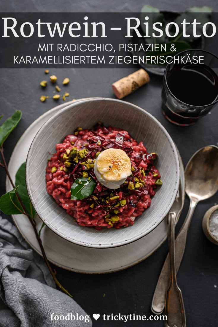 Rotwein Risotto trickytine Foodblog
