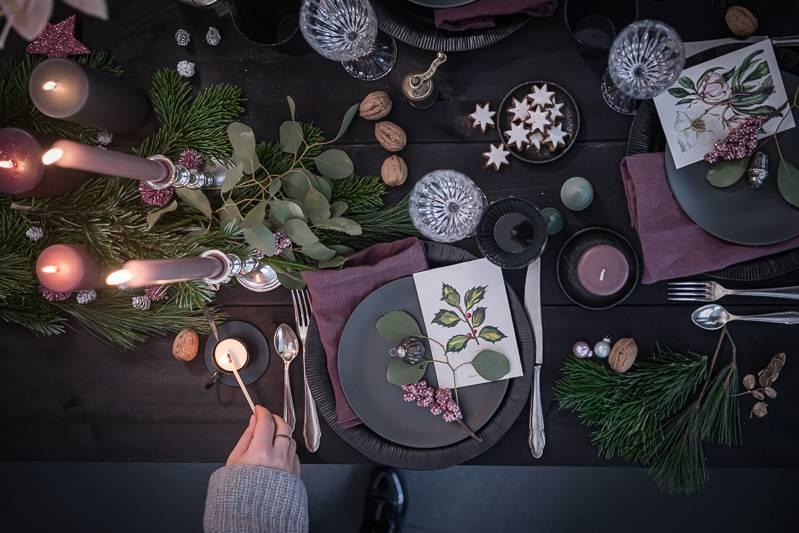 Weihnachtsdeko Tisch trickytine