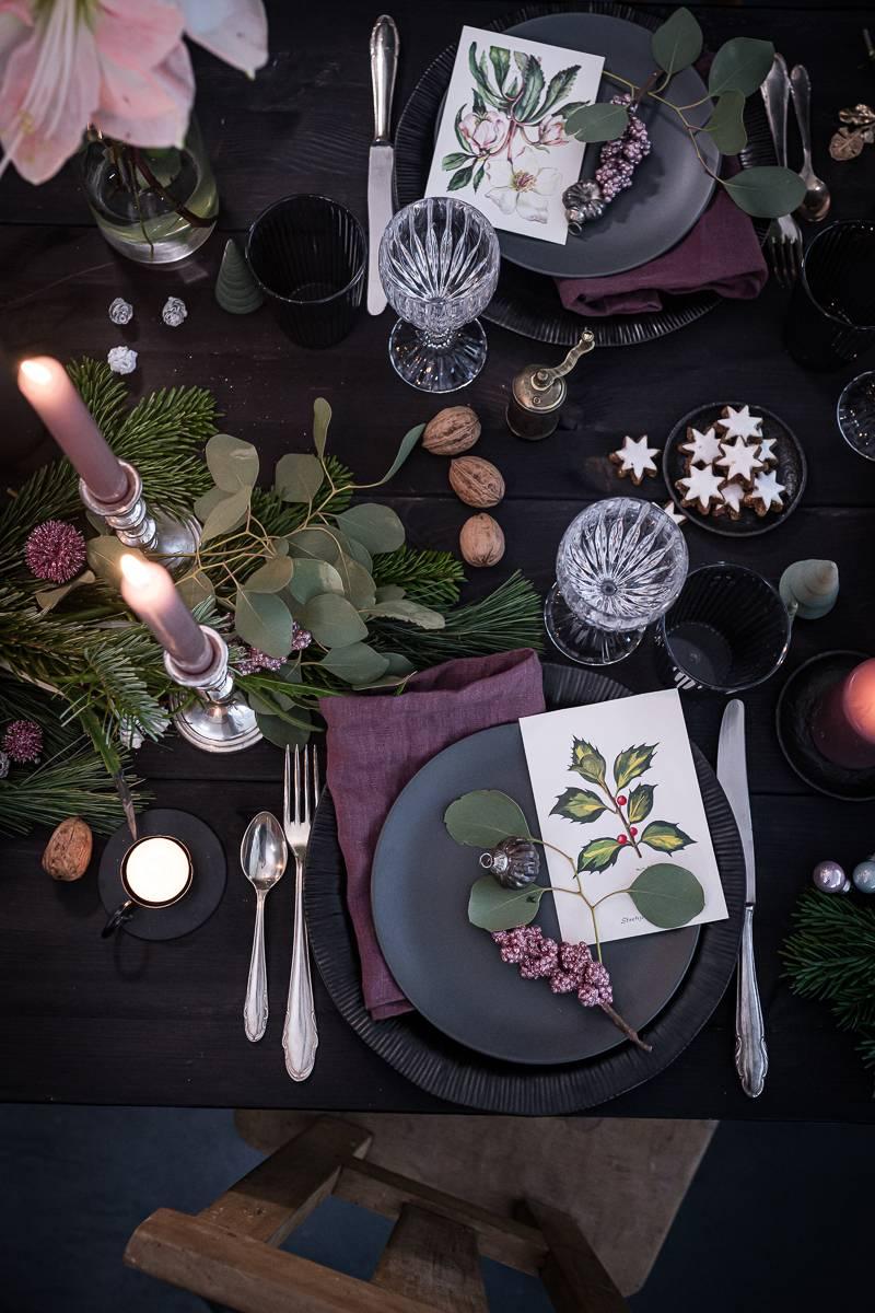Weihnachten Tischdeko trickytine