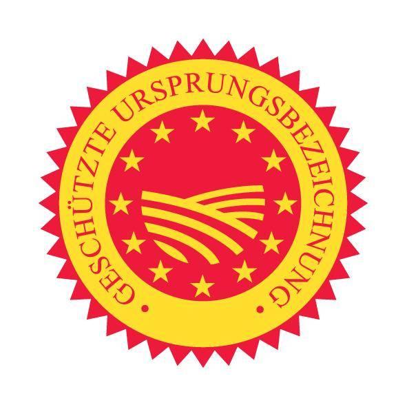 g.U. geschützte Ursprungsbezeichnung trickytine