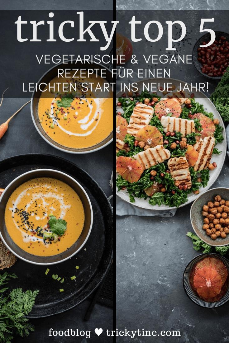 Vegetarische und vegane Lieblingsrezepte trickytine Pinterest Collage