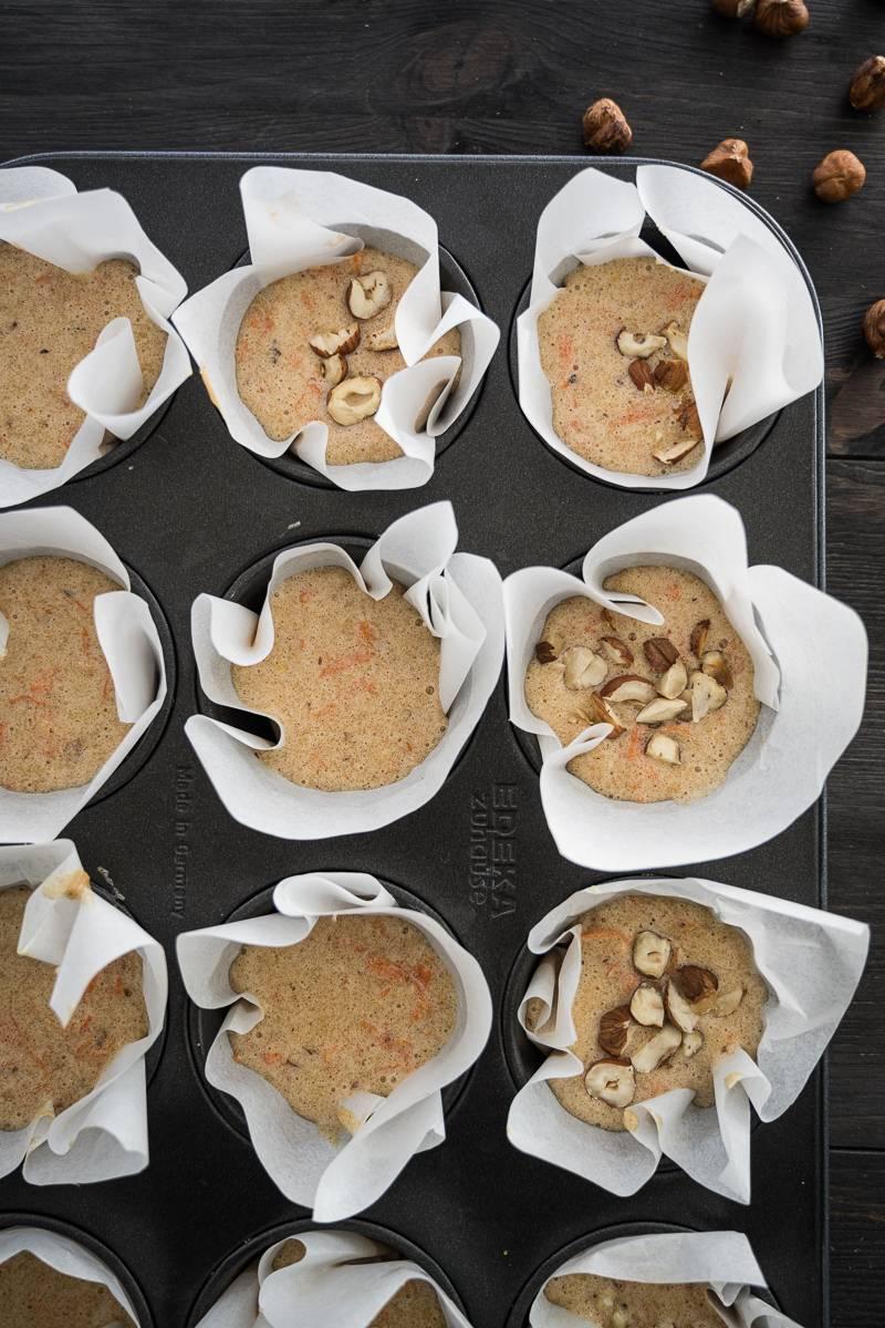 Carrot Cake Muffins Kuchen ohne Mehl trickytine
