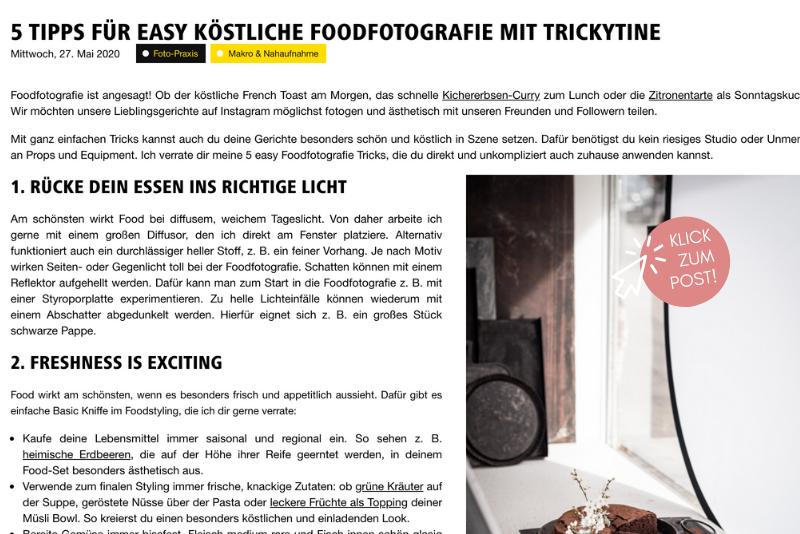 Nikon Foodfotografie trickytine