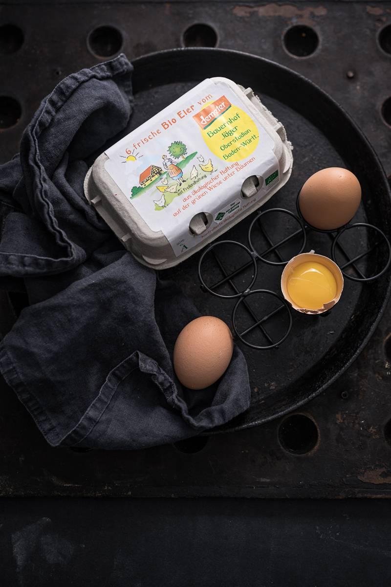Eiersalat Spargel Kräuter Pancakes Rezept trickytine
