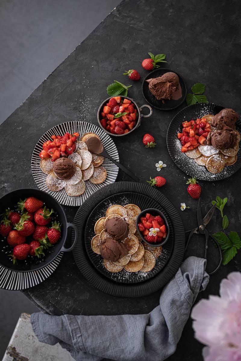 Poffertjes Rezept Erdbeersalat trickytine