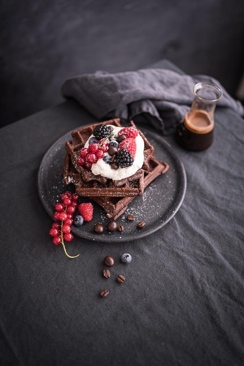 Brownie-Waffeln Espresso Rezept trickytine