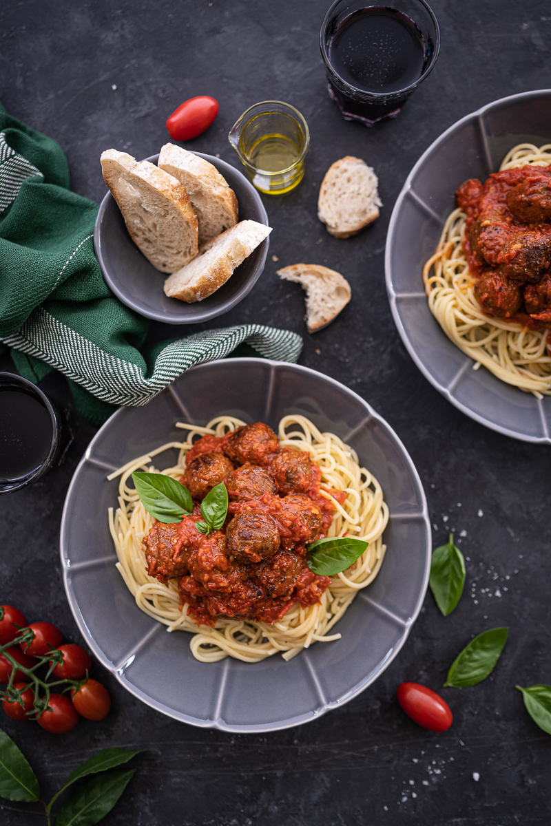 Plantbullar Spaghetti vegan Meatballs trickytine