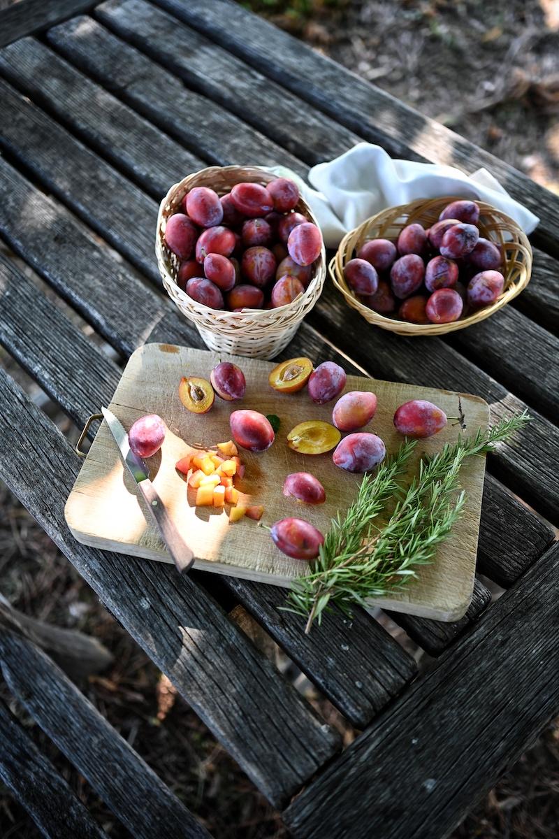 wetschgenmarmelade Rosmarin Zitrone trickytine Foodblog Ernte