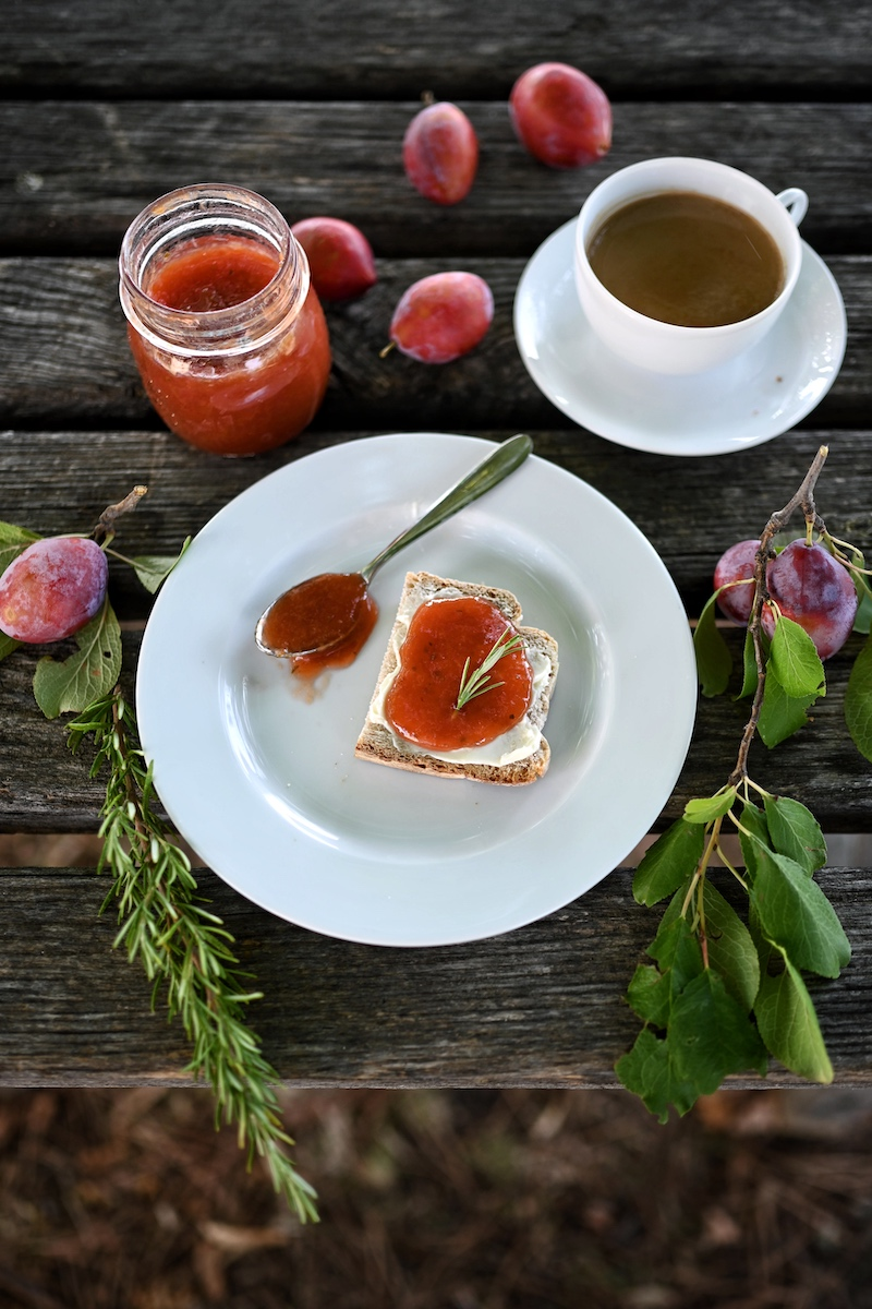 Zwetschgenmarmelade Rosmarin Zitrone trickytine Foodblog
