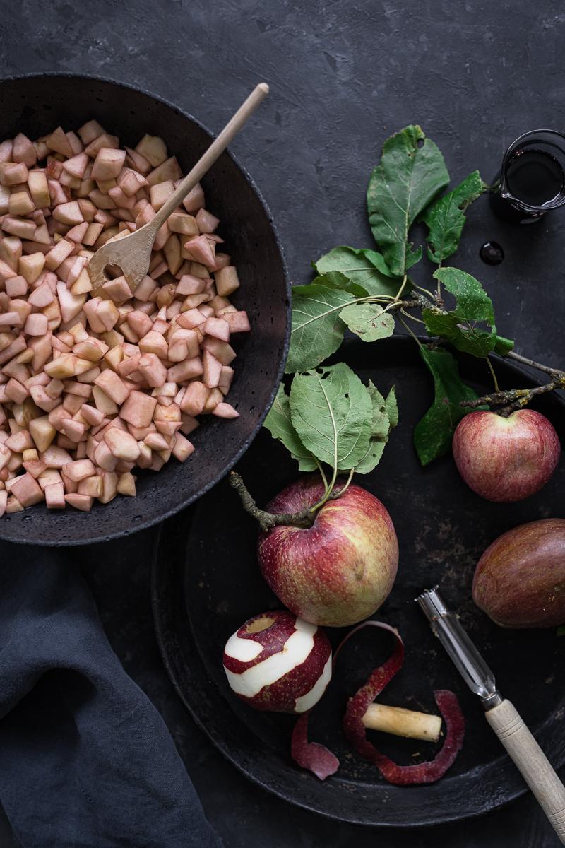 Apfel-Crumble trickytine Rezept Kürbiskernstreusel