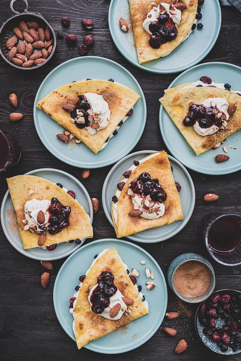 5 Wochenplan Frühstücks-Rezepte, Cheesecake Quesadillas