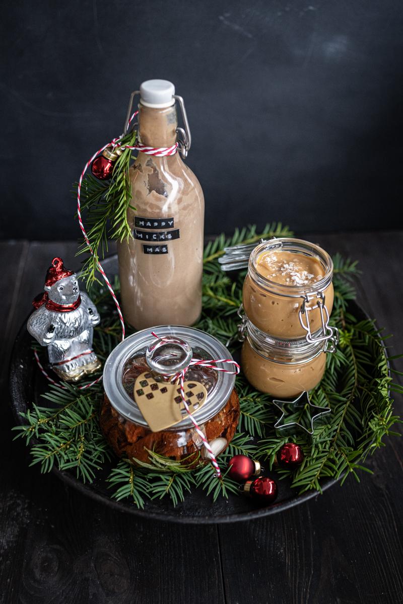 Geschenke aus der Küche Schokolikör Dulce de leche Eingelegte Tomaten trickytine Advent Weihnachten trickytine