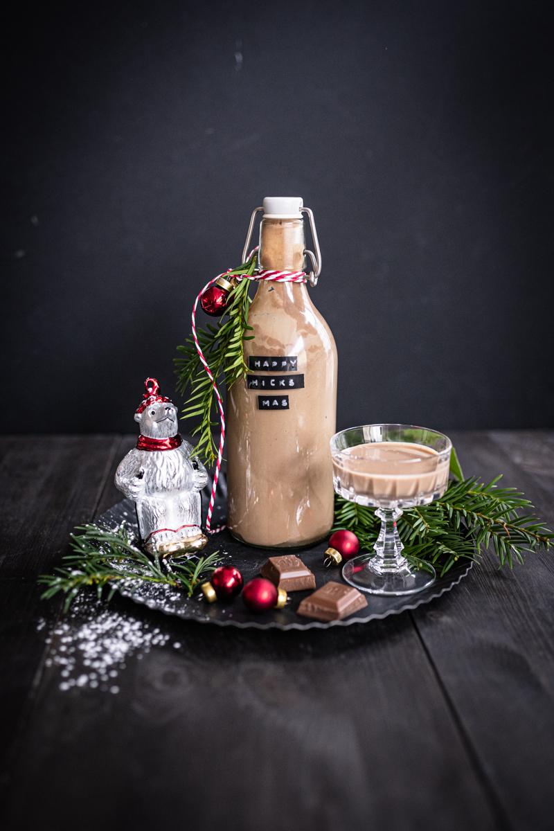 Geschenke aus der Küche Schokolikör trickytine Advent Weihnachten trickytine