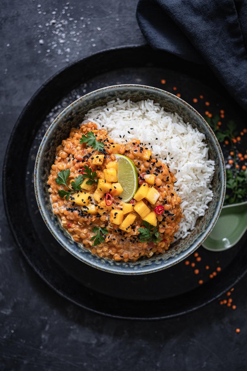Linsen-Curry Mango Rezept trickytine