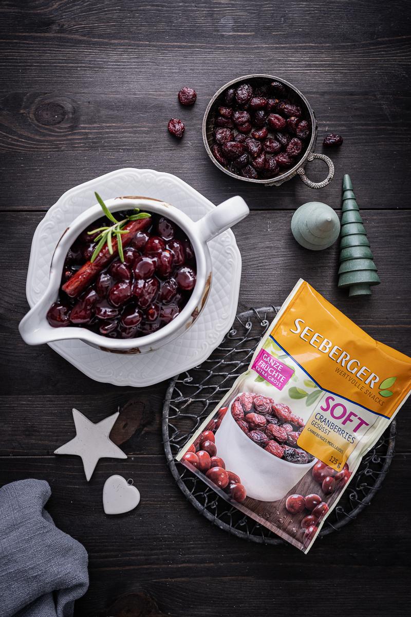 Cranberry Soße Wildscheingulasch Seeberger trickytine