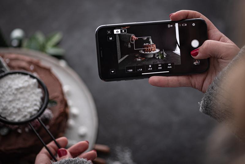 Schokotorte Weihnachen Cranberry trickytine Nikon