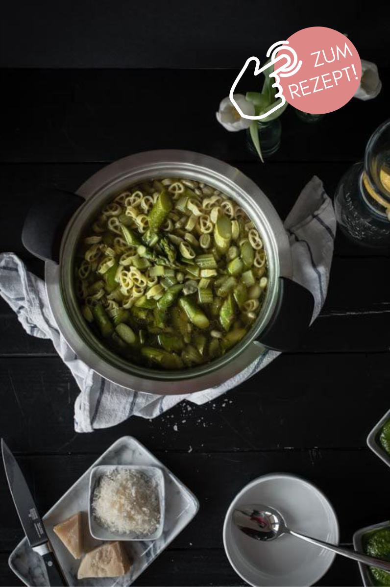 5 Suppen-Rezepte, Grüner Spargel Frühlingsminestrone