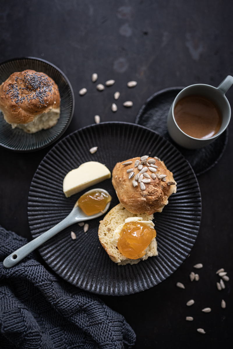 Brötchensonne Rezept Dinkelbrötchen Quarkteig ohne Hefe
