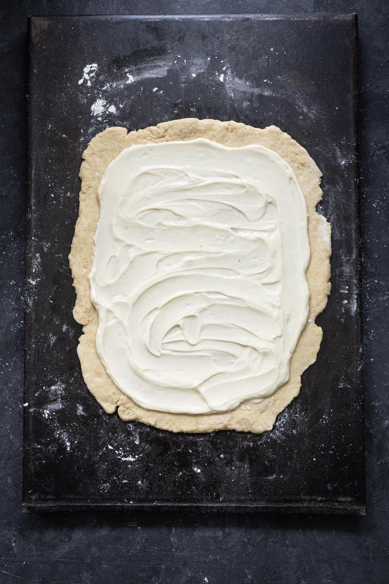 Cheesecake-Schnecken Rezept Quark-Öl-Teig trickytine