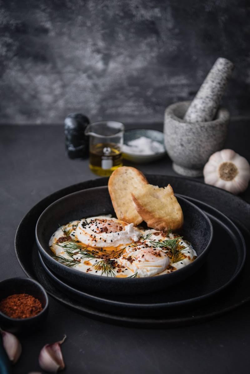 Oster-Rezepte, Cilbir mit pochierten Eiern
