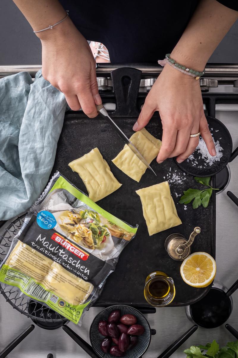 Perl-Couscous Salat Maultaschen trickytine