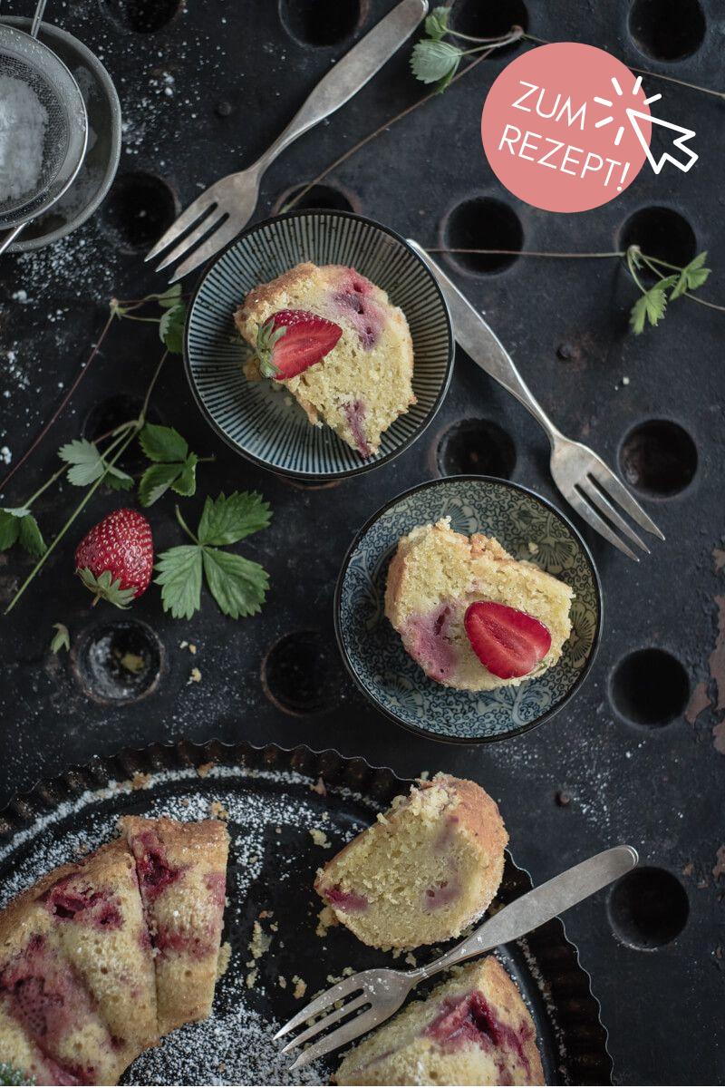 5 Erdbeer-Rezepte, Rührkuchen Erdbeeren