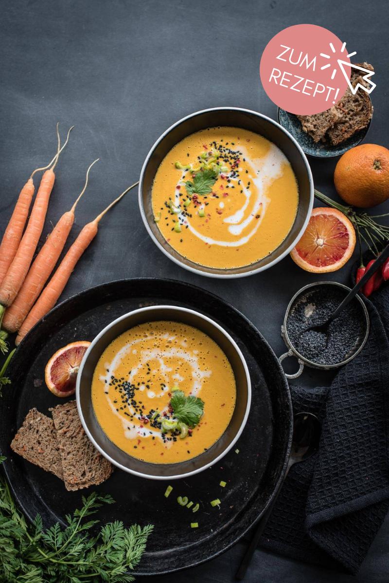 5 Suppen-Rezepte, vegane Karottensuppe