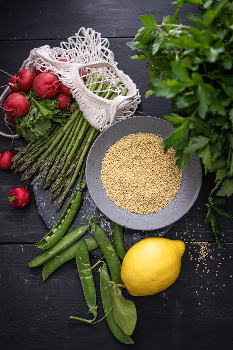 Hirsesalat Spargel Erbsen Cashew trickytine Rezepte