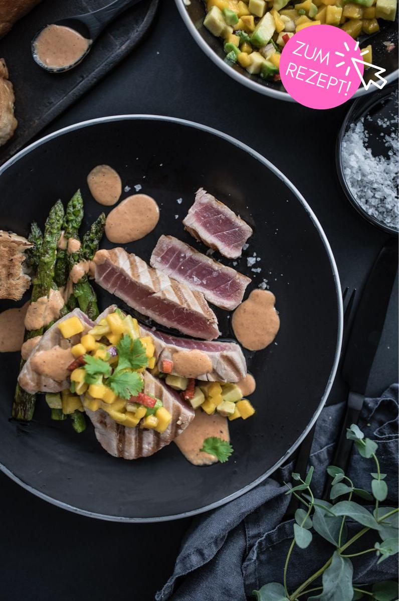 5 Grillparty-Rezepte, Gegrillter Thunfisch