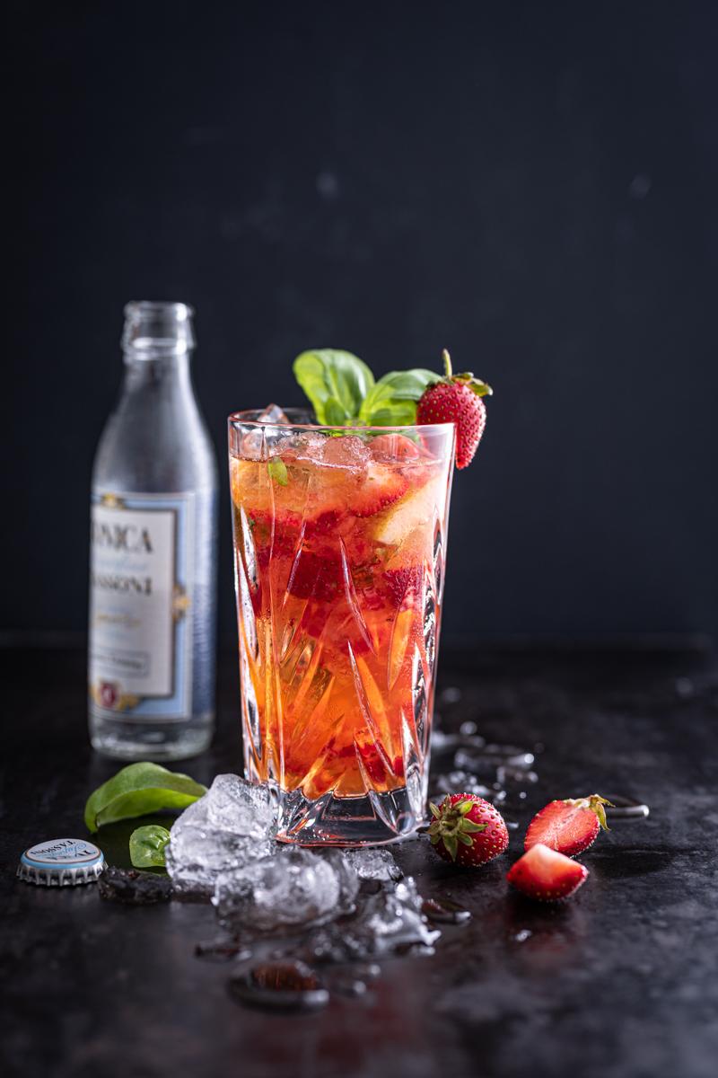 Erdbeer Spritz Basilikum trickytine