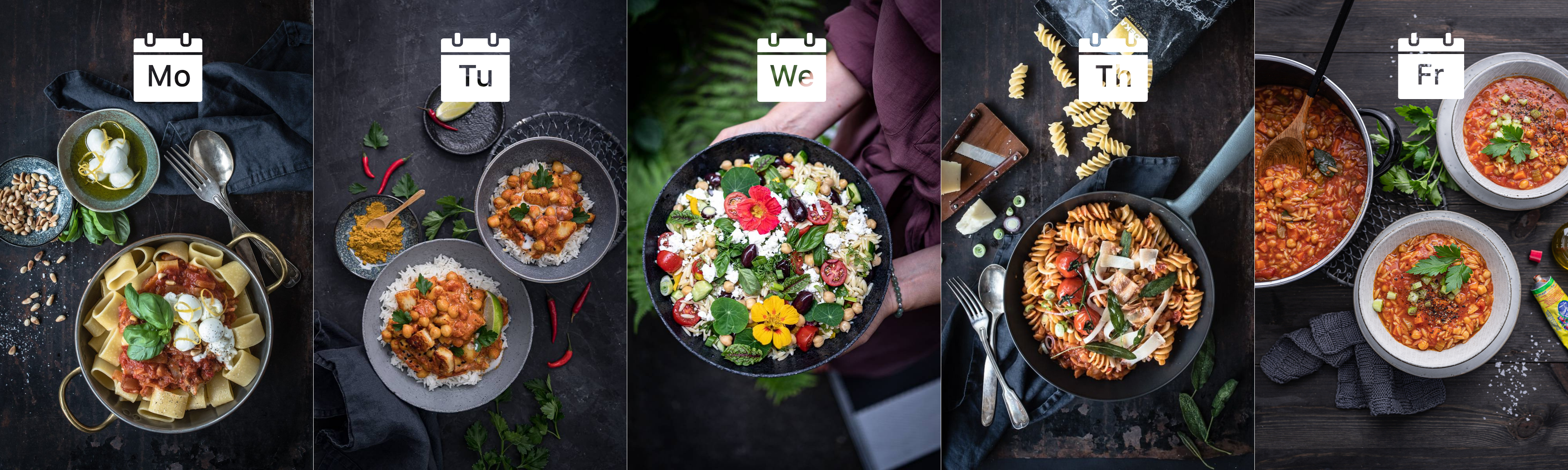 5 Wochenplan Rezepte Foodblog trickytine