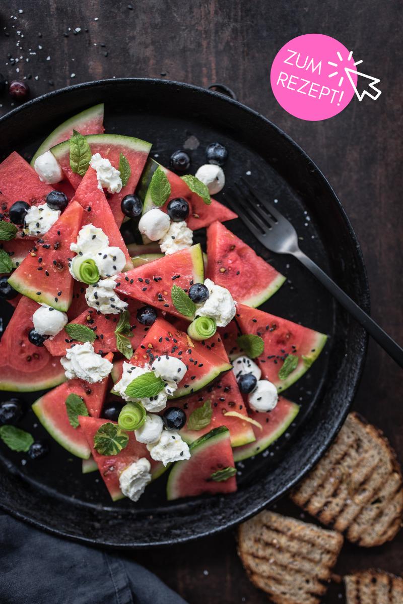 5 leichte Sommergerichte, Wassermelonen Salat