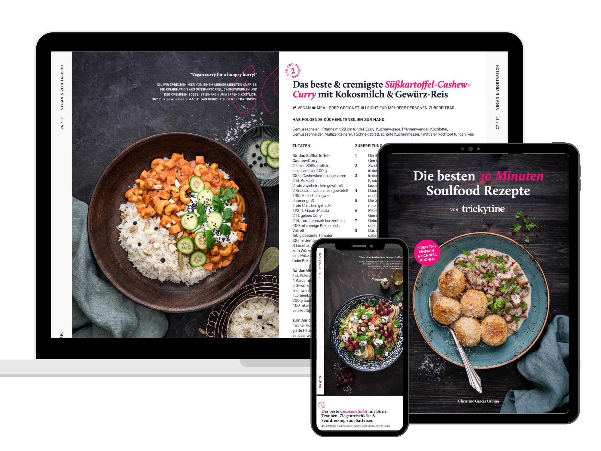 eBook trickytine die besten 30 Minuten Soulfood Rezepte